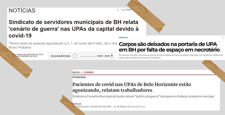 Imprensa repercute denúncias do SINDIBEL da situação dramática nas UPAs de BH